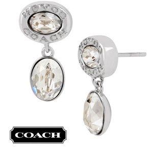 NIB Coach Signature Swarovski Crystal Drop Earring
